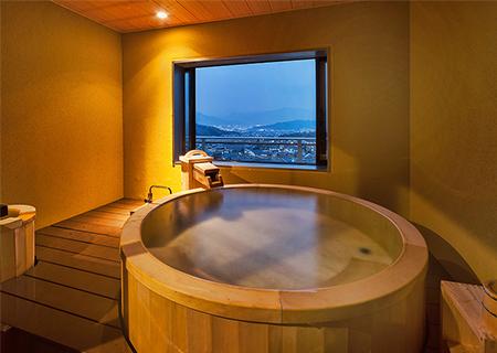 展望貸切風呂「地上の星空」